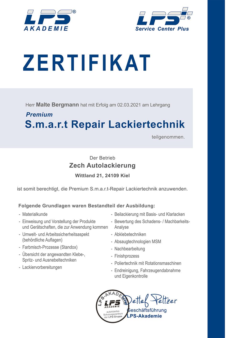 Zertifikat premium smart repair.psd
